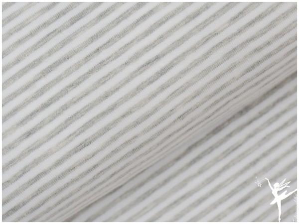 STENZO Ringel Jersey Hellgrau/Weiß 4mm Stripes