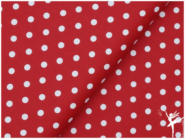 Baumwolle DOTS Rot/Weiß