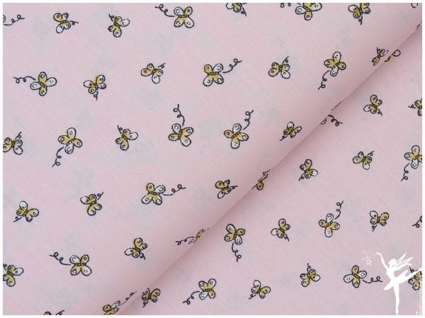 Schmetterling BAUMWOLLE Rosa