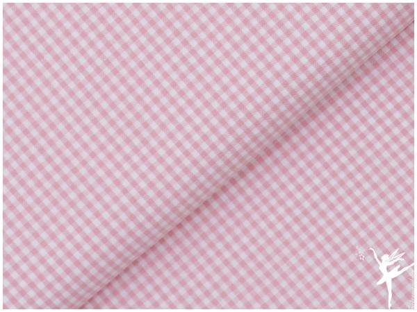Baumwolle Vichy Karo Rosa/Weiß