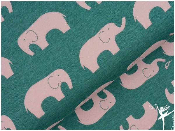 BIO Jersey Baumwolle Birch Fabrics JADE Elefanten