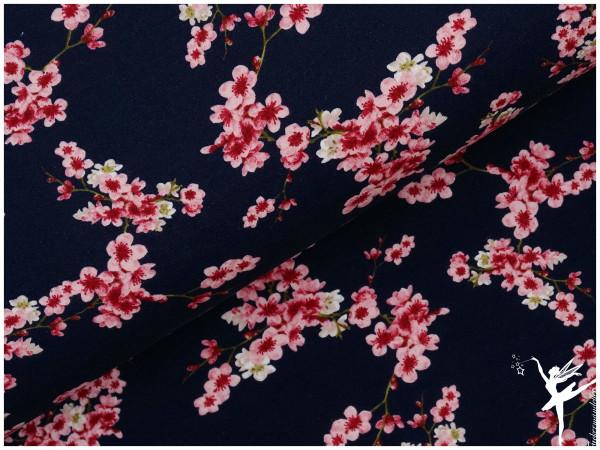 Kirschblüten Sweat Dunkelblau