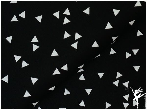 Baumwolle Triangel Schwarz/Weiß