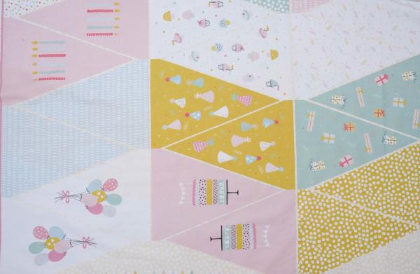 Panel Wimpelketten Rosa/Senf/Weiß Baumwolle