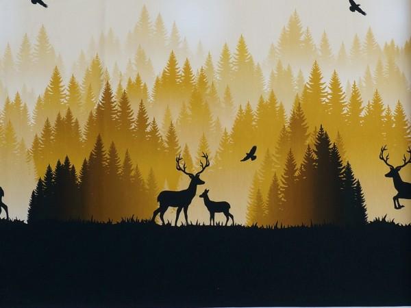 NEW! Wild Shadows Sweat by Lycklig Design Goldgelb Hirsch