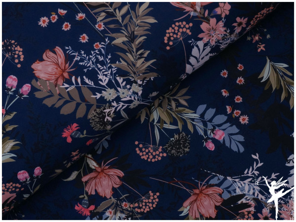 Fiete Softshell Wiesenblumen Blau