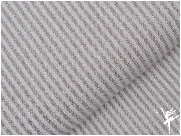 Baumwolle Feine Streifen - BEIGE/WEIß