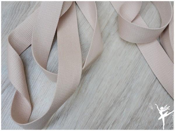 Gurtband Baumwolle 3 cm - BEIGE