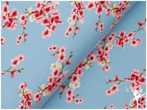Kirschblüten Sweat Hellblau