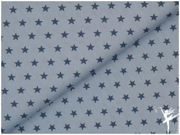 STENZO Baumwolle/Poplin Sterne Hellblau/Blau
