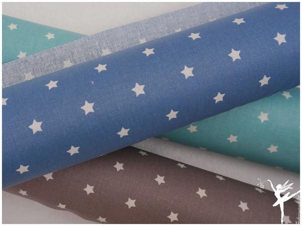 Wachstuch kleine Sterne Blau beschichtet