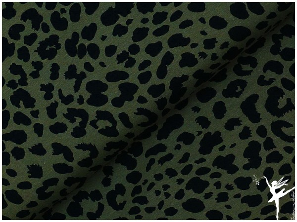 VERONIKA Jerey Leopardenmuster Olivegrün