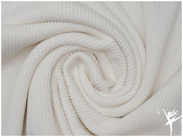 Weicher Rib Baumwoll Strickstoff Creme