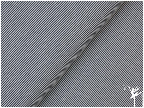 STENZO Ringel Jersey Dunkelblau/Weiß 2 mm Stripes
