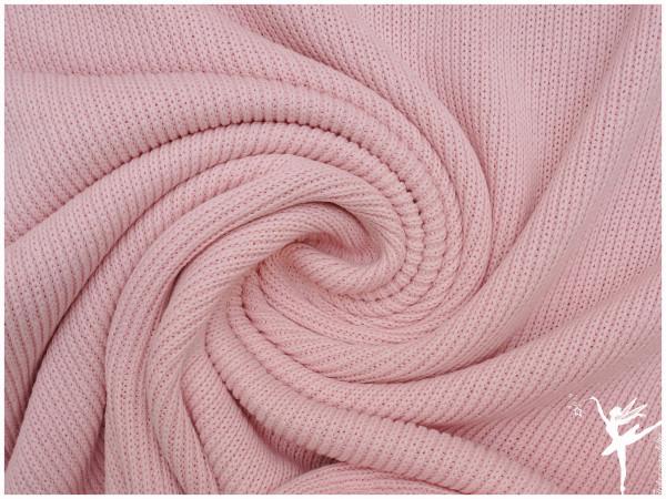 Weicher Rib Baumwoll Strickstoff Rosa