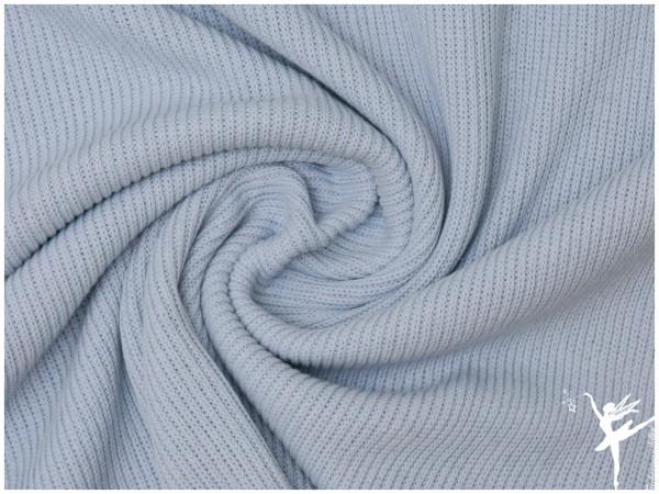 Weicher Rib Baumwoll Strickstoff Hellblau