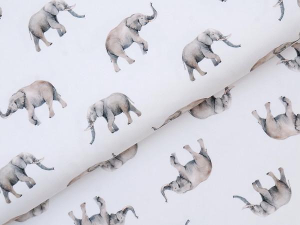 Digital Jersey Elefanten Weiß