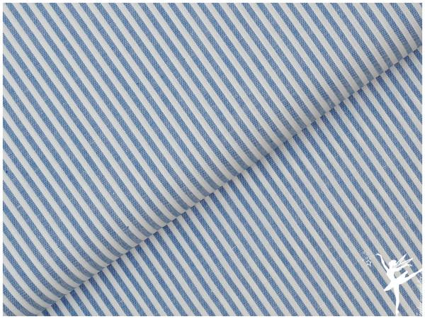 Baumwolle Feine Streifen - Jeansblau/Weiß