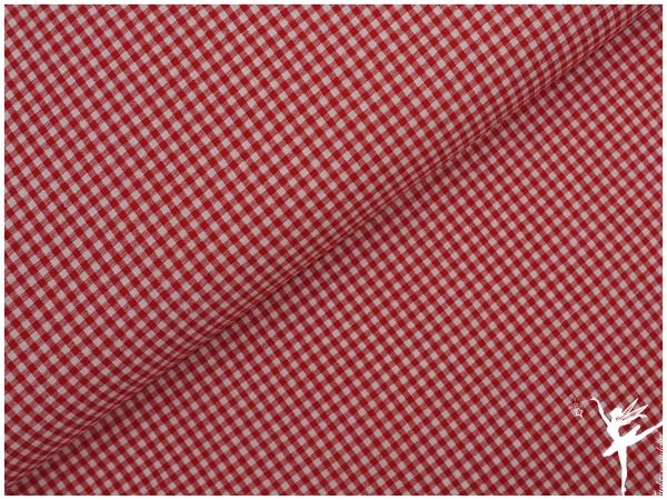 Baumwolle Vichy Karo Rot/Weiß