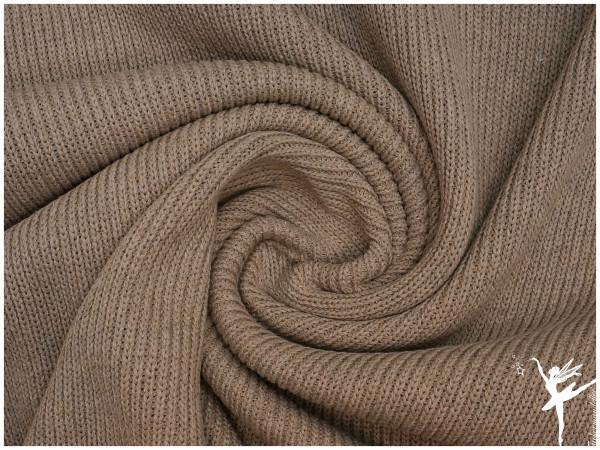 Weicher Rib Baumwoll Strickstoff Taupe