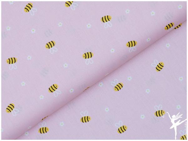 Baumwolle/Webware Biene Rosa