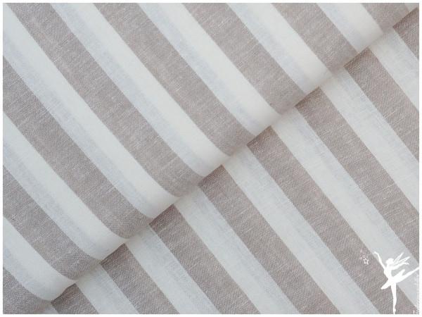 Luxus Leinen Streifen Sand/Beige