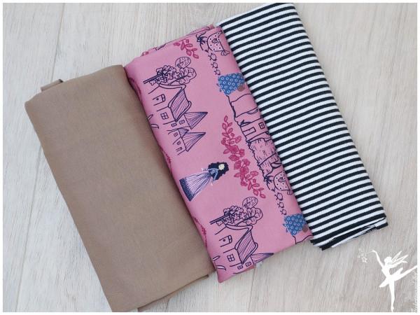 Stoffpaket Jersey Märchenwelt Altrosa/Taupe