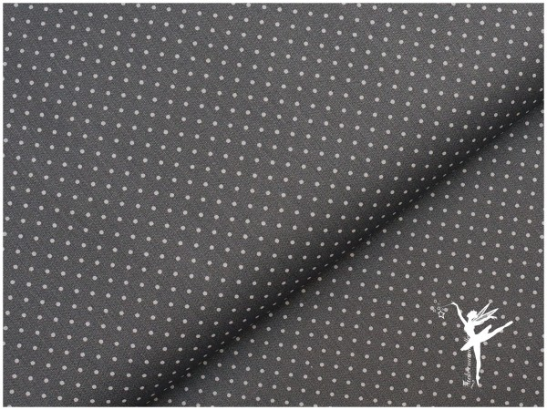 Baumwolle Mini Punkte Grau/Weiß
