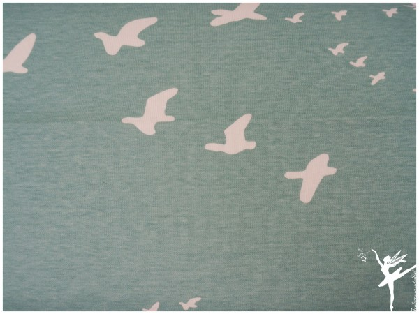 BIO Jersey Baumwolle Birch Fabrics JADE Vögel