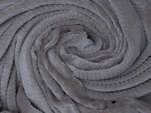 Kuschelweicher Breit Cord Jersey Taupe elastisch