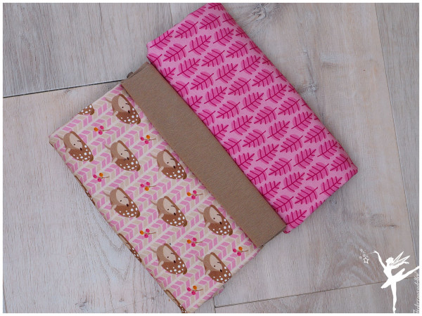 Stoffpaket Jersey Steinbeck Rehkitz Rosa/Pink/Taupe
