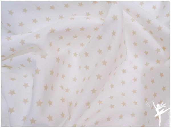 STENZO Sterne Weiß/Light Beige Baumwolle/Popelin