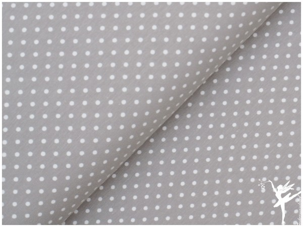 VERENA Jersey kleine Punkte Grau/Weiß