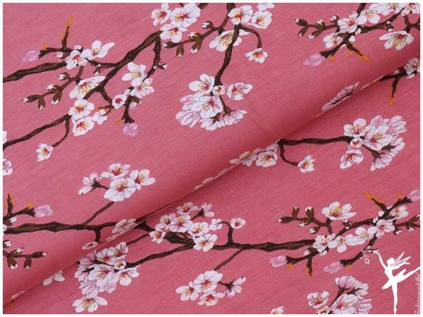 Modal Jersey Kirschblüten Rosa