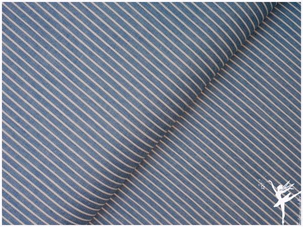 Weicher Streifen Jeansstoff Hellblau