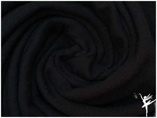 Bene ITALIEN Woll Strickstoff - Uni Schwarz