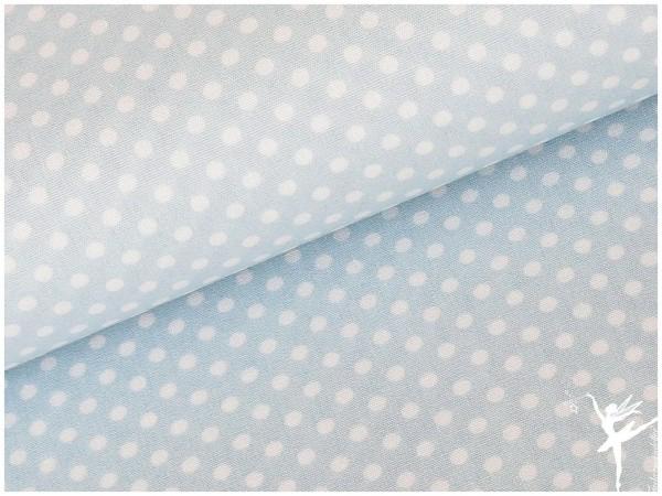DÄNISCHE Farben Punkte Baumwolle/Popelin Hellblau