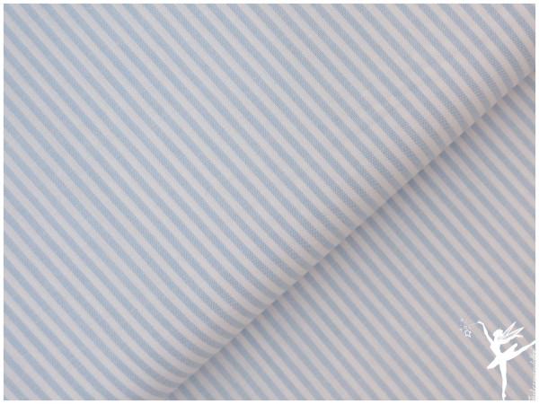Baumwolle Feine Streifen - Hellblau/Weiß