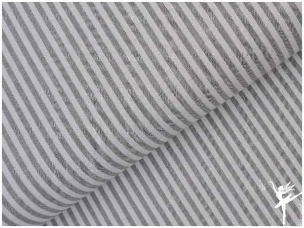 Baumwolle Feine Streifen - Grau/WEIß