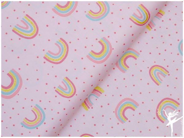 Glitter Rainbow Baumwolle/Webware Rosa