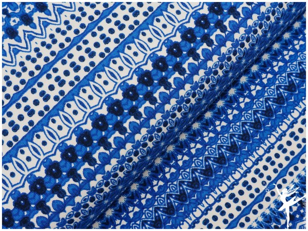 INDIAN SUMMER Muster Mix Jersey Blau