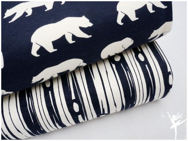 BIO Jersey Baumwoll Birch Fabrics Dunkelblau RINDE