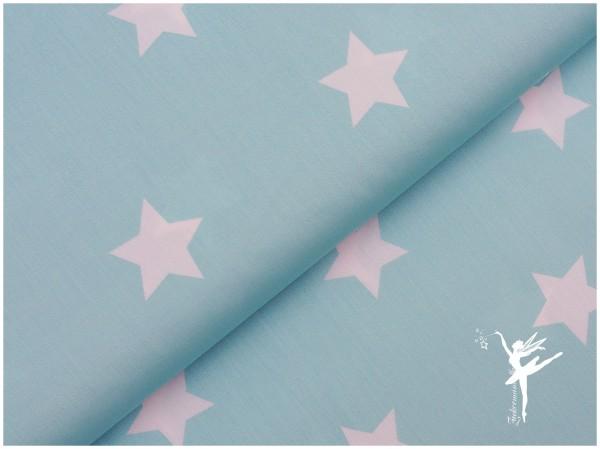 STENZO XL STARS MINT Baumwolle/Popelin