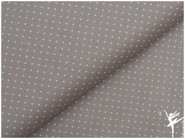 Baumwolle Mini Punkte Beige/Weiß