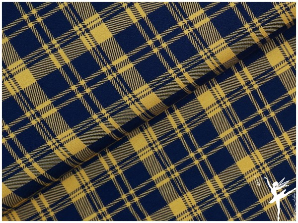 Aberdeen Jersey Karomuster Blau/Gelb