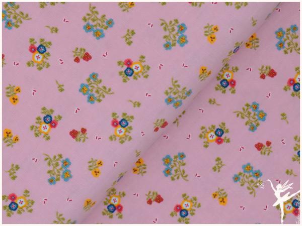 Babycord Sweet Flowers Rosa