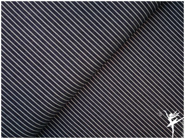 Weicher Streifen Jeansstoff Dunkelblau