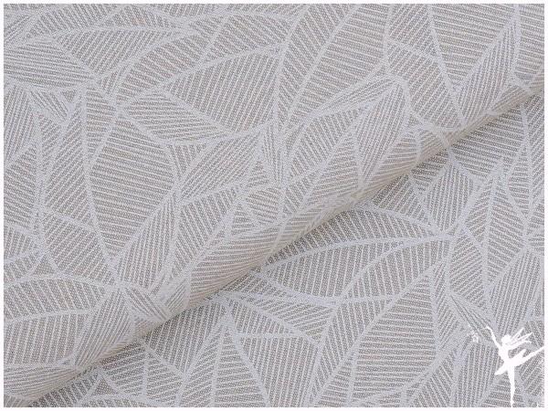 CANVAS/DEKO Stoff Blätter Beige/Weiß