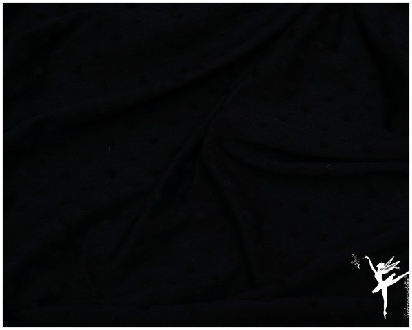 Minkey Dots Baumwoll Jersey Schwarz -Ökotex 1