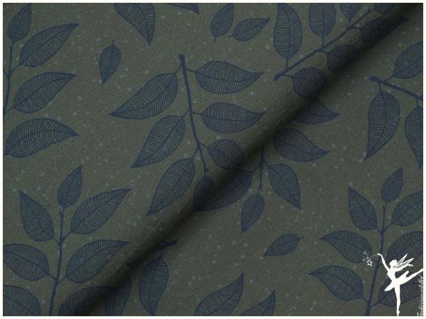 Hedda Terry Sweat Blätter Olive Kollektion 20/21